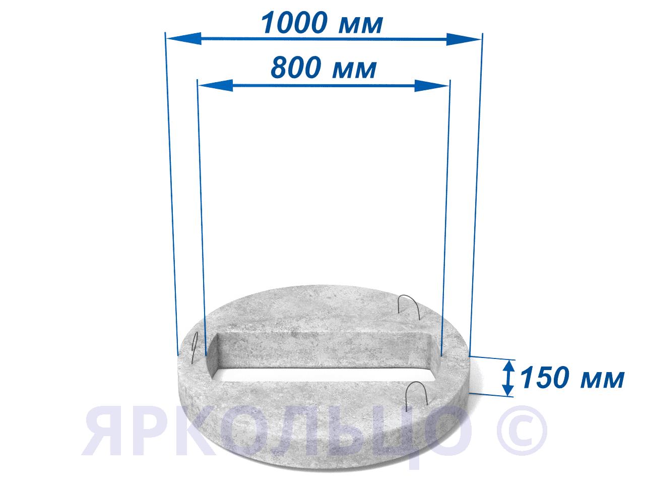 Плита перекрытия , нагрузка-2 (под прямоугольный дождеприемник) КЦП 3-10