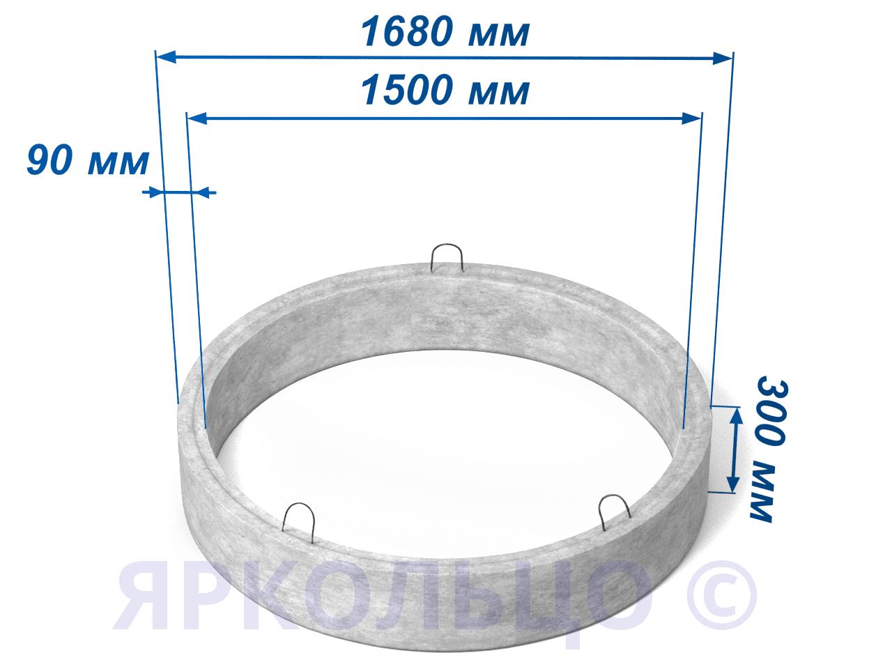Кольцо стеновое КС 15-3