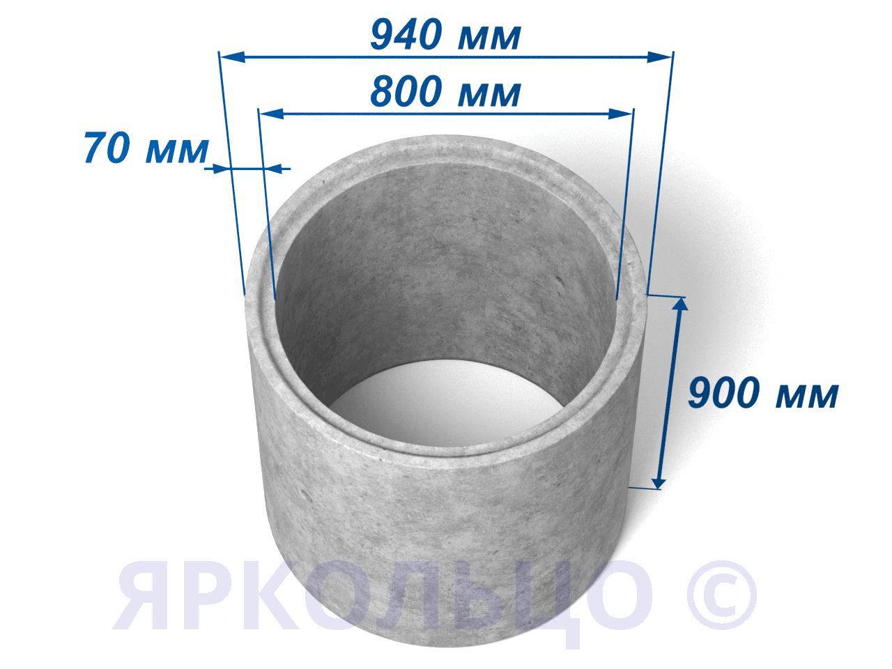 Кольцо стеновое КС 8-9
