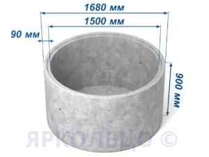 Кольцо стеновое КСД 15-9 (с дном)