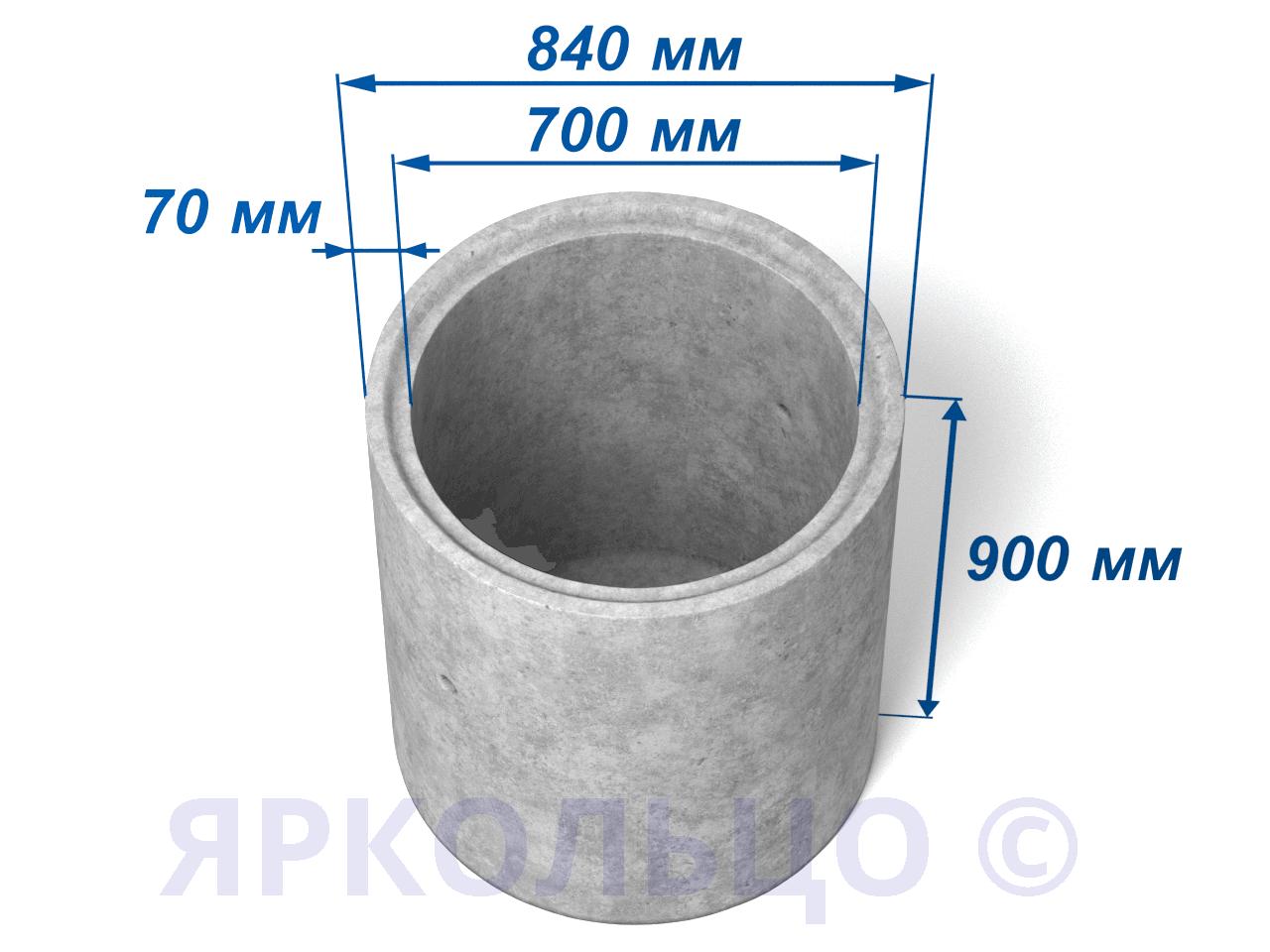 Кольцо стеновое КСД 7-9 (с дном)