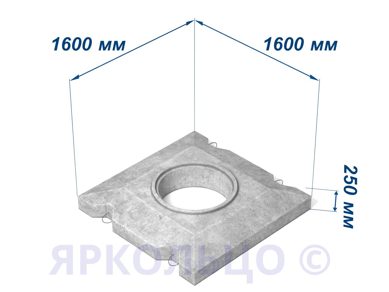 Плита перекрытия ОП-1К