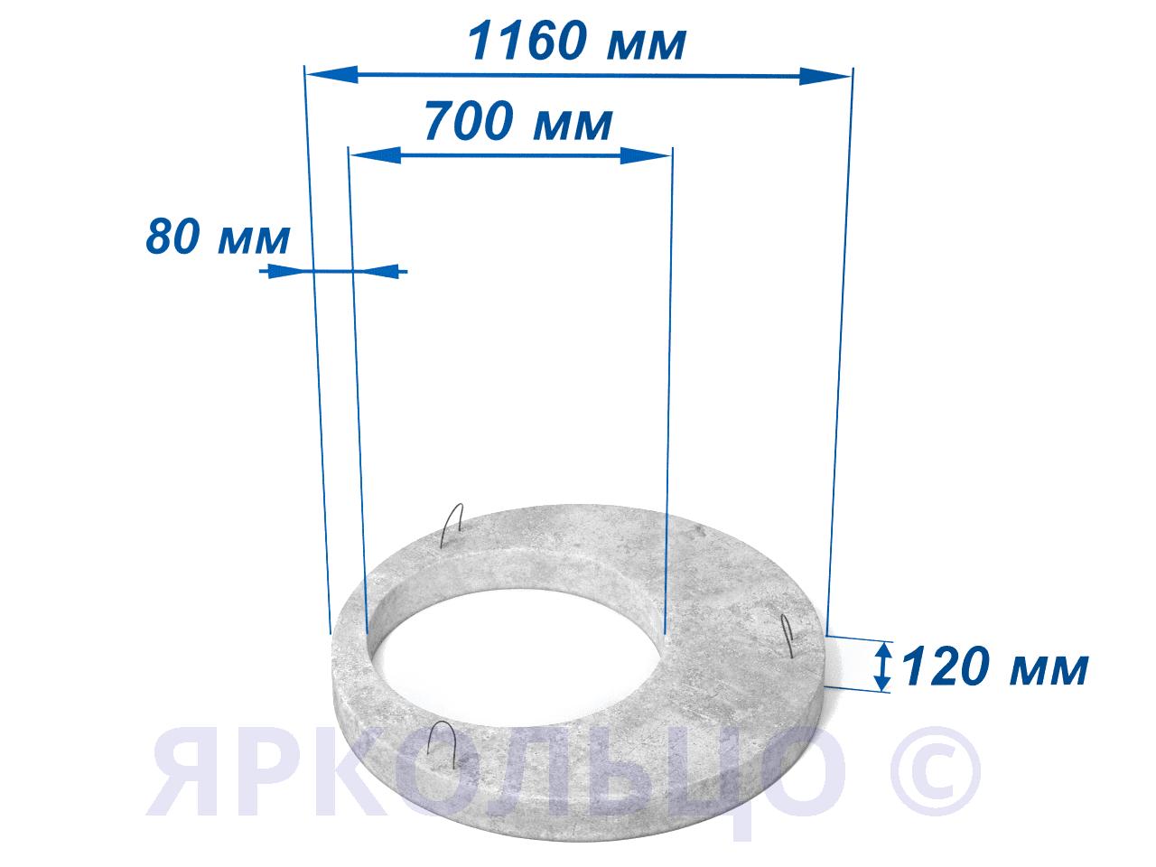 Плита перекрытия ПП 10.1 (нагрузка-1)