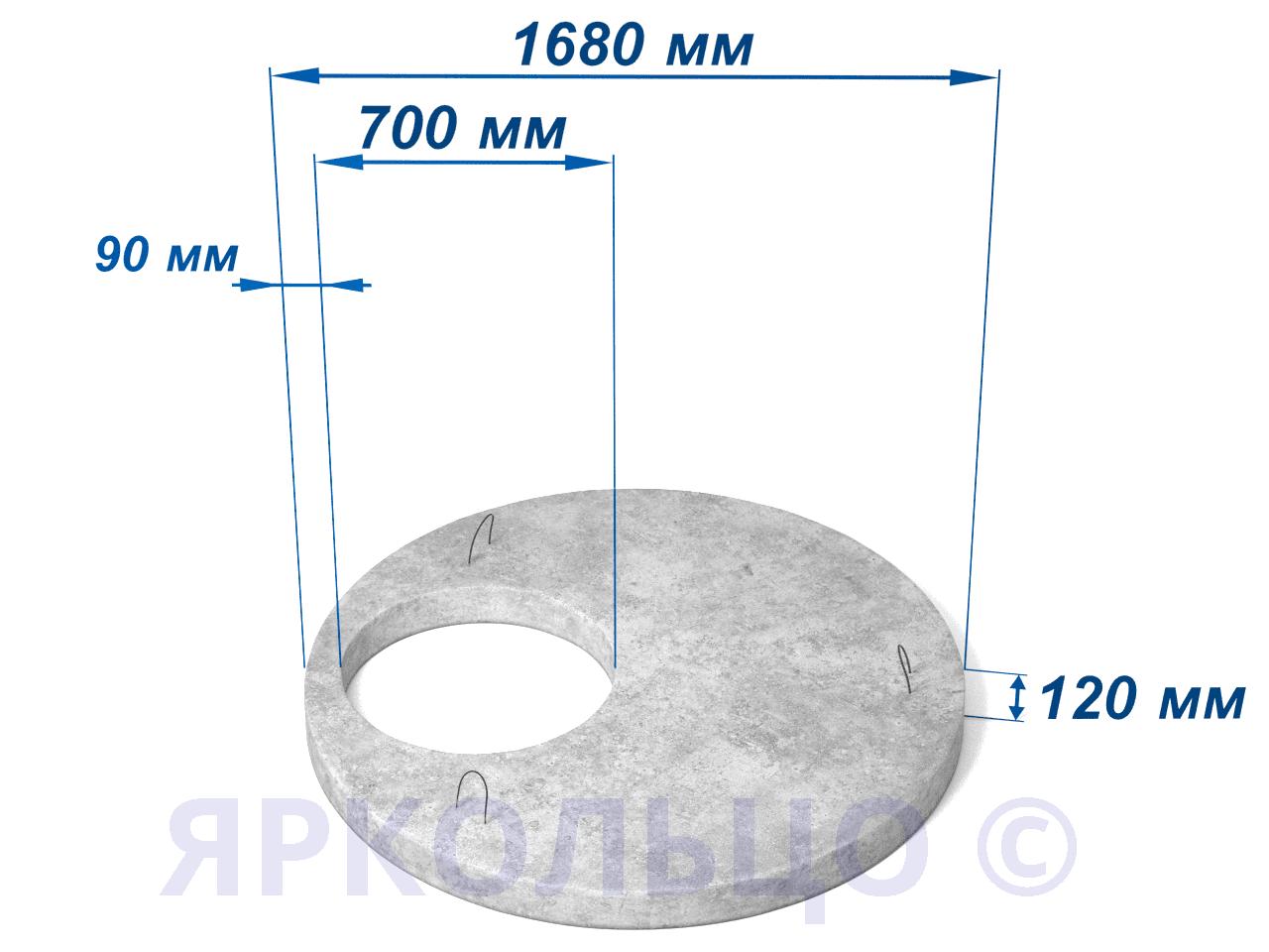 Плита перекрытия ПП 15.2 (нагрузка-2)